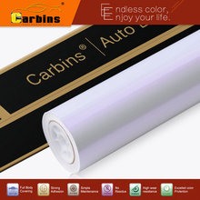 White pearl chamelon vinyl car wrap white to purple gloss discount price(China)