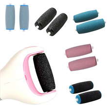 New 1Pair Foot Care Tool Heads Pedi Hard Skin Remover Refills Replacement Rollers Perfect Fit H7JP(China)