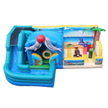 kids inflatable combo trampoline bouncer slide house,inflatable jumping bed kids fun city YLW-TC50