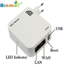 New Mini Portable 150Mbps Wireless-N WiFi Router Wlan With Wall Plug USB Charging for iPhone For iPad Etc U0302