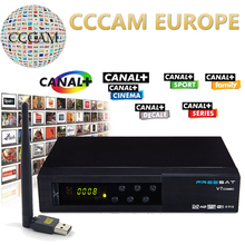 Freesat V7 DVB Combo DVB-S2 DVB-T2 Satellite Receptor Terrestrial Decoder with 1 Year Europe CCcam 1 Cline and USB WIFI device