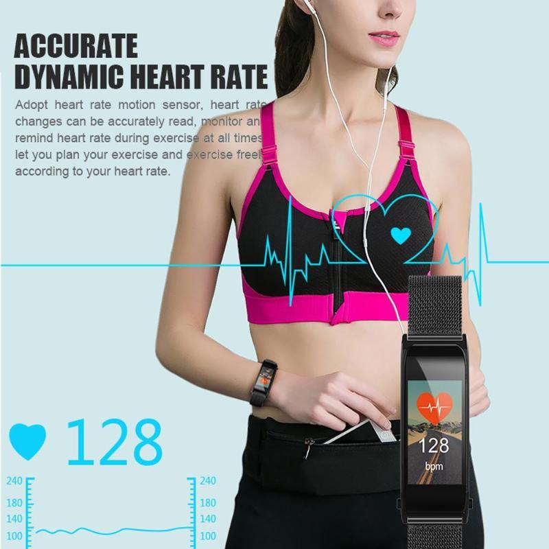 ALLOYSEED Bluetooth Smart Bracelet Watch Handsfree Call Music Player Sport Wristband Headset Fitness Tracker Heart Rate Monitor 5