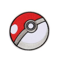 POKEBALL STORING Full Embroidered Iron on Badge Patches Appliques DIY Apparel Accessories Sewing Accessories Patchworks(China)