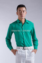 S-3XL 12C 2014 New Dress Fashion Quality Long Sleeve Shirt Men.Korean Slim Design Formal Casual Male Dress Shirt satin shirt(China)