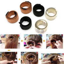 Nice Fashion 2pcs/set Women Lovely Hair Accessories New Bun Hair Solid Barrettes Band Hair Twist Styling Braid Tools WY2703(China)