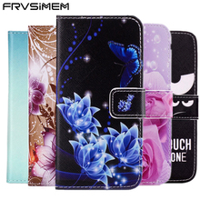 FRVSIMEM Art Painting Owl Flower Wallet Flip Leather Cover Soft Case For Samsung Galaxy S5 Neo S6 S7 edge S3 S4 S8 Plus(China)