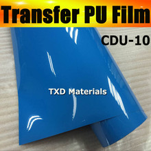 Free shipping CDU-10 SKYE BLUE COLOR Cutter plotter heat transfer pu film with whole roll size:0.5x25m/roll