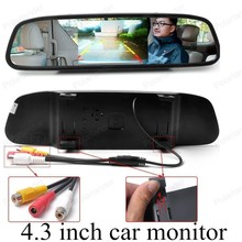 4.3 inch digital HD video lcd for universal vehicle reversing parking backup rear view camera car mirror monitor small display
