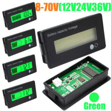 battery tester 12V 24V 36V 48V New LCD Acid Lead Lithium Battery Capacity Indicator Digital Voltmeter Voltage Tester(China)
