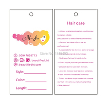 free shipping customized women hair extensions hang tag/paper tags/hair printed labels/hair packing tags/price tags printing(China)