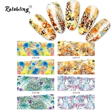 2017 New Arrival Colorful And Beautiful Flower Series Nail Sticker Fingernail Stickers Nail Stickers And Decals