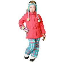 2016 NEW Children Set Outerwear Warm Coat + Pants Sport Snow Ski Suits Kids Waterproof Windproof Warm Girl's Jackets Winter sets