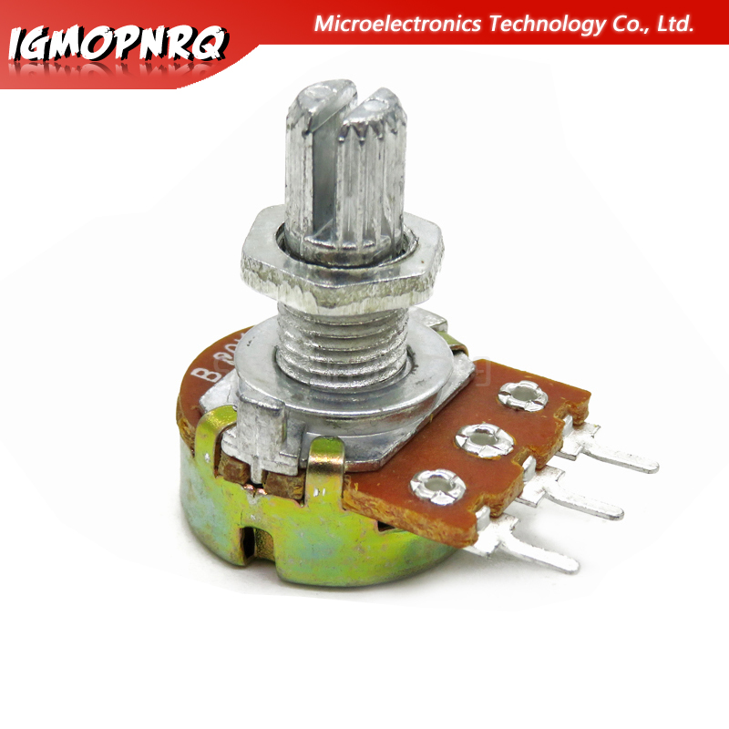 10PCS WH148  Potentiometer 3PIN 15mm Shaft With Nuts And Washers WH148 B1K B2K B5K B10K B20K B50K B100K B250K B500K B1M