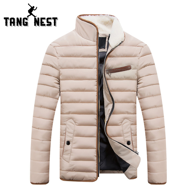 TANGNEST 2017 Winter Fashion Men Jacket Casual Striped Solid Color Men Coat Thick Warm Stand Collar Jacket Men 4 Colors MWM1359Одежда и ак�е��уары<br><br><br>Aliexpress