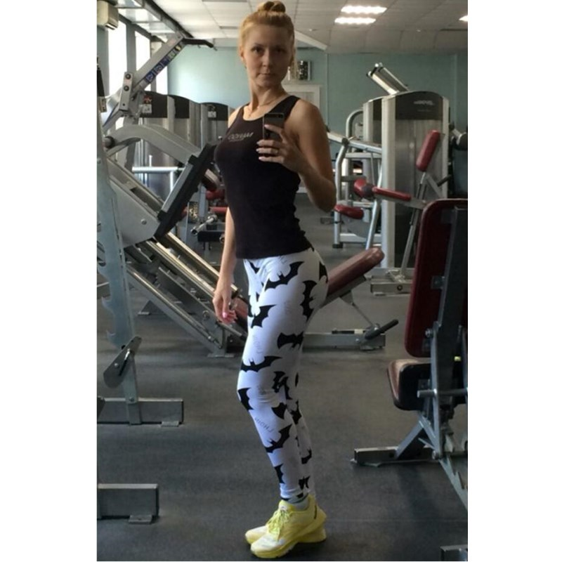 Female Leggins waist cartoon batman Push Fitness Leggings Women Workout Legging Pockets Patchwork Pants Women Clothing