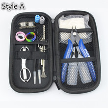 NEW Mini Vape DIY Tool Bag Tweezers Pliers Wire Heaters Kit Coil Jig Winding For Packing Electronic Cigarette Accessories(China)