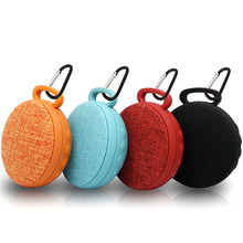 Fashion circular Fabric art speakers bluetooth portable handle woofer TF USB wireless sound box altavoz clip+ for Fran's Group