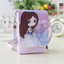 QZH little girl mini messenger bags PU Leather cartoon shoulder bag for kindergarten baby girls travel party handbags