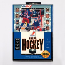 NHLPA Hockey '93 Game Cartridge 16 bit MD Game Card With Retail Box For Sega Mega Drive For Genesis