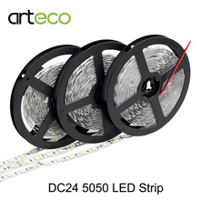 DC24V 5050 LED Strip light IP20 non-waterproof 60leds/m 5m LED strip 5050 RGB White/warm white/red/green/blue(China)