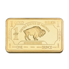 WR One Bullion 1 Troy Ounce Gold Bar 24k 999.9 Gold Plated Fake Bars Pure Gold Plated Metal Bars Value Collection