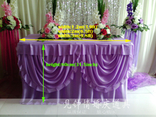Lilac table skirt welcome champagne tower candlestick tablecloth wholesale wedding supplies wedding decoration