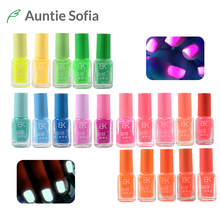 7ml Nail Polish Glow In The Dark Summer Candy Nude Nail Laquer Gel Polish Glowing Nail Varnish Art Acrylic Luminous Paint