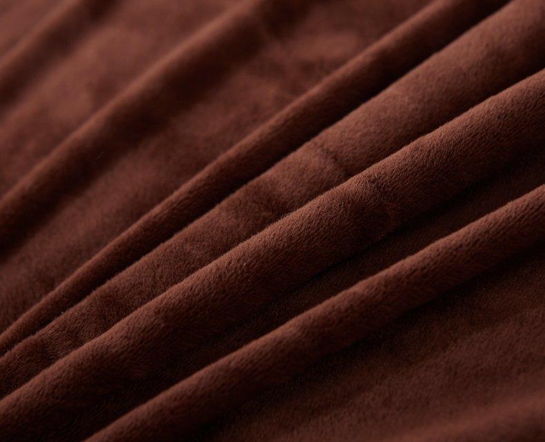 3Pcs Fleece Bed Skirt Set W/ Pillowcases, Mattress Protective Cover 40