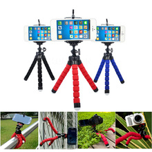 Mini Tripod Portable Car Flexible Stand Mount With Holder For Phone Action Camera and Camcorder(China)