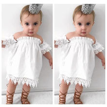 2017 New Toddler Kids Baby Girls Clothes Lace Top Dress Party Gown Formal Dress Sundress(China)