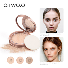 O.TWO.O 8Colors Make Up Face Powder Brightening Long-lasting Waterproof Brighten Face Pressed Powder Palette Contour(China)