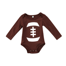 pudcoco Newest Arrivals Hot Infant Newborn Toddler Baby Kids Boy Girl Rugby bodysuits long sleeve casual lovely Clothes Outfits(China)