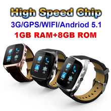 High Speed Chip 1GB+8GB Smart watch Support 3G Call GPS WIFI Positioning navigation With Browse web Download the APP PK X01 PLUS