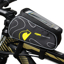 Bicycle Bike Bags Folding touch screen phone Bag Double U - shaped opening design Non-slip inches 6.0 Cycling Basket Phone Case