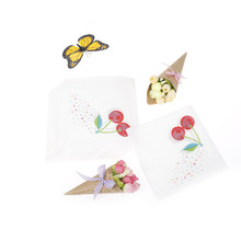 New 20pcs Paper Napkin Fruit Sweet Cherry fresh napkin paper tissue kids birthday party Coffee shop glass decoration(China)