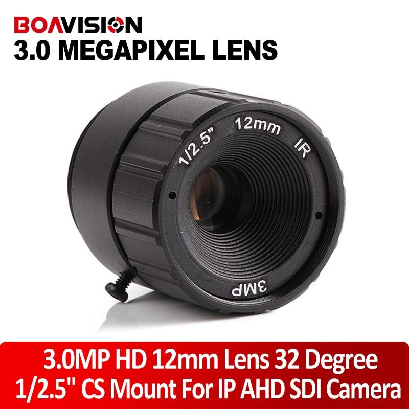 Fixed CS Mount 3MP CCTV Camera Lens 1/2.5 inch CS F1.4 3.0 Mega Pixels 12mm Lens For HD IP/CVI/AHD CCTV Security Cameras<br><br>Aliexpress
