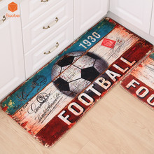 Football Retro  Door Mat Alfombras Hall Bathroom KitchenHome Rug Absorbent Non-slip  Mats Carpet Strips tapete 3 Sizes DT18