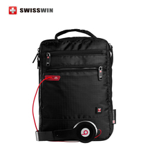 Swisswin Messenger Shoulder Bag Musical Men Ipad Bag Black Small Satchel Crossbody Bags for Casual Tablets SWB027