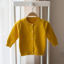 New 2018 spring and autumn new style baby infant child cardigan sweater knitting cotton sweater boys and girls casual sweater()