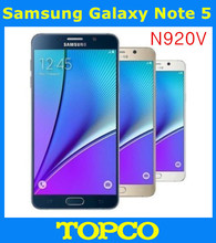 "Samsung Galaxy Note 5 Original Unlocked GSM Android Mobile Phone N920V Verizon 4GB RAM 32GB ROM Quad-core&Quad-Core 5.7"" 16MP"
