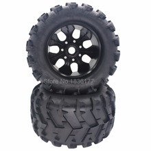 4 Pieces 150mm Rubber RC 1/8 Monster Truck Tires Bigfoot & Wheel Rims 17mm Hex Hub Fit HSP HPI Exceed Redcat(China)