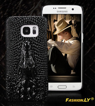 Luxury PU Leather Case For Samsung Galaxy S7 S6 S7 Edge S6 Edge A3 A310 A5 A510 2016 Pouch 3D Crocodile Skin Back Cover Bag(China)