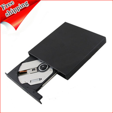 Wholesale Brand New 8X DVD RW RAM DL Burner 24X CD RW Writer Tray-Loading USB 2.0 External Slim Drive Blue(China)