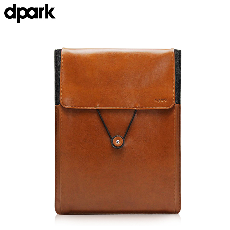 D-park Genuine Leather&amp;Wool Case Sleeve Pouch For Surface 3 Macbook Air 11 For Microsoft Surface 3 Case/10.8 inch tablet bag <br>
