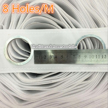 8 Holes/M High quality Curtain accessories polyester white color eyelet curtain tape Contains the curtain ring 5M/roll(China)