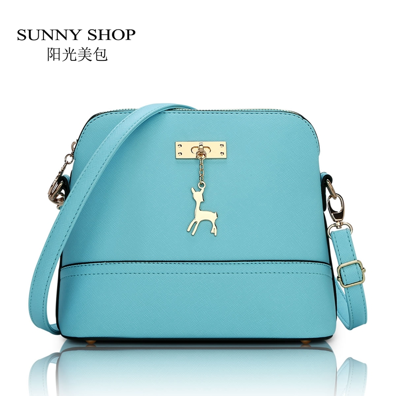 SUNNY SHOP Spring Summer Style Candy Color Small Women Shoulder Bag Fashion Shell Women Small Horse Messenger Bag Crossbody<br><br>Aliexpress