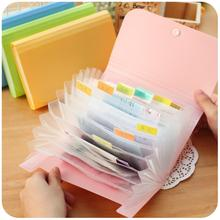 1pc Plastic candy color Document bag file folder Expanding wallet bill folder Small size 17.8*11.5*2.5cm(China)