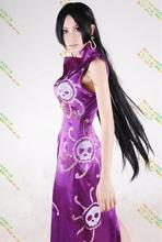 2016 Anime One Piece Cosplay Boa Hancock Cosplay Cheongsam Dress Women Halloween Costume For Party
