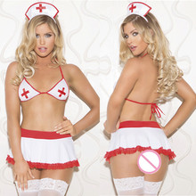 Buy Porno Women Babydoll Underwear Chemises Lingerie Sexy Hot Erotic Dress Female Sexy Uniform Nurse Cosplay Sexy Costumes Uniforms