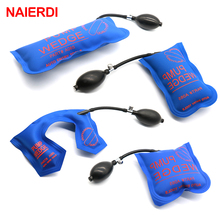 4PCS Blue NAIERDI Pump Wedge Locksmith Tools Full Size Auto Air Wedge Airbag Lock Pick Set Open Car Door Lock Hardware Tool(China)